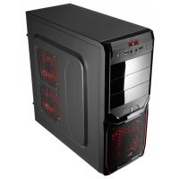 Корпус AeroCool V3X Red edition black (EN57455)