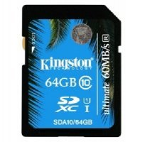 Карта памяти Kingston 64GB SDHC Class 10 SDA10/64GB