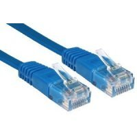 Кабель Patch Cord Greenconnect кат.5e, RJ45, CU, 32 AWG, литой, синий, плоский, 0.5 m