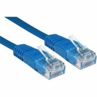 Кабель Patch Cord Greenconnect кат.5e, RJ45, CU, 32 AWG, литой, синий, плоский, 1 m