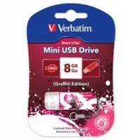 USB накопитель Verbatim 8Gb Store n Go Mini Graffiti красный