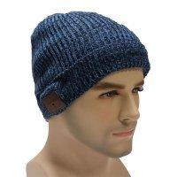 Шапка со стерео-гарнитурой KREZ Talking Hat синяя