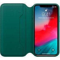 Чехол для смартфона Apple iPhone XS Leather Folio MRWY2ZM/A Forest Green (Зеленый)