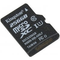 Карта памяти Kingston 256Gb microSDXC Class10 SDCS/256GB