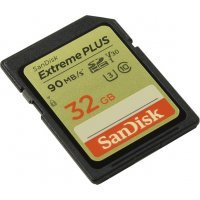 Карта памяти Sandisk SD 32GB SDHC Class 10 UHS-I U3 Extreme Plus 90Mb/s 2-Pack SDSDXWF-032G-GNCI2