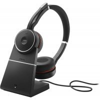 Bluetooth-гарнитура Jabra Evolve 75 Stereo MS, Charging stand & Link 370 (7599-832-199)