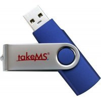 Накопитель 16Gb takeMS MEM-Drive 2.0 Mini RUBBER Blue (TMS16GUMIR1R01)