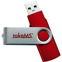 Накопитель 16Gb takeMS MEM-Drive 2.0 Mini RUBBER Red (TMS16GUMIR1R02)
