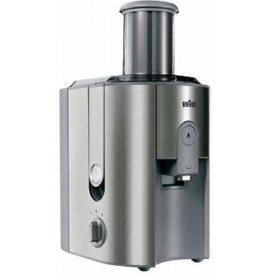Соковыжималка Braun J 700 (J 700)Соковыжималки Braun<br>для всех видов фруктов, мощность 1000 Вт, стакан для сока в комплекте, подача сока сразу в стакан, противокапельная система, автоматический выброс мякоти, отсекатель пены сока<br>