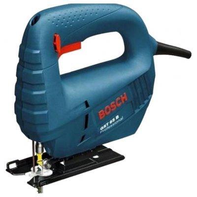 Лобзик Bosch GST 65 B (601509120)Лобзики Bosch<br>ручной электролобзик, мощность 400 Вт, частота движения пилки 3100 ходов/мин, быстрозажимное крепление пилки, вес 1.7 кг<br>