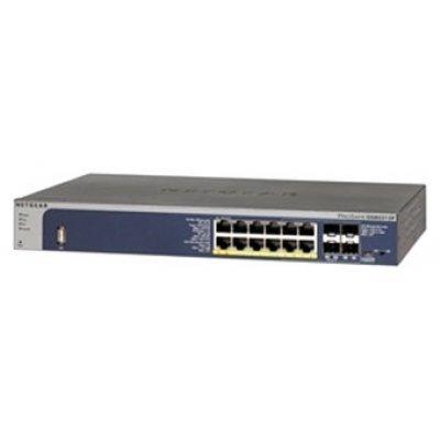 Коммутатор Netgear GSM5212P (GSM5212P-100NES)Коммутаторы Netgear<br>Управляемый коммутатор 2-го уровня с консольным портом на 8GE+4SFP(Combo) портов (12 PoE+ портов, из них 2 порта PoE+ PD для питания коммутатора) со статической маршрутизацией и MVR, PoE бюджет до 125 Вт<br>