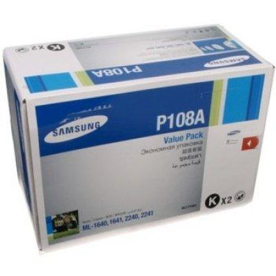 Тонер-Картридж Samsung MLT-P108A (2-pack) для ML-1640/1641/2240/2241 (MLT-P108A/SEE)Тонер-картриджи для лазерных аппаратов Samsung<br>MLT-P108A Samsung каритридж (2-pack) для ML-1640/1641/2240/2241<br>