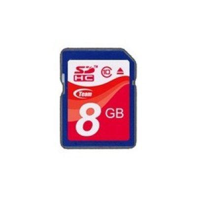 Карта памяти TEAM 8GB SDHC Class 10 (765441411791) (TSDHC8GCL1001)Карты памяти Team Group<br>Retail, class 10<br>