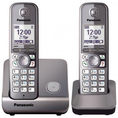 Радиотелефон Panasonic KX-TG6712RUM (KX-TG6712RUM)Радиотелефоны Panasonic<br>Р/телефон Panasonic KX-TG6712RUM (серый металлик, 2 трубки)<br>
