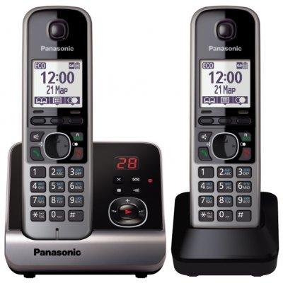 Радиотелефон Panasonic KX-TG6722RUB (KX-TG6722RUB)Радиотелефоны Panasonic<br>Р/телефон Panasonic KX-TG6722RUB (черный, 2 трубки, автоответчик)<br>