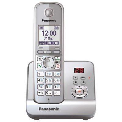 Радиотелефон Panasonic KX-TG6721 серебристый металлик (KX-TG6721RUS) радиотелефон panasonic kx tg6721