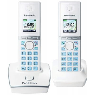 Радиотелефон Panasonic KX-TG8052 белый (KX-TG8052RUW) радиотелефон dect panasonic kx tg6722rub черный
