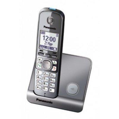 Радиотелефон Panasonic KX-TG6711 серый металлик (KX-TG6711RUM)Радиотелефоны Panasonic<br>Р/телефон Panasonic KX-TG6711RUM (серый металлик)<br>