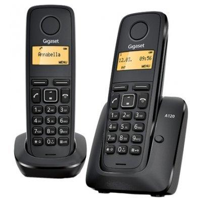 Радиотелефон Siemens Gigaset A120 Duo черный (L36852-H2401-S301) siemens lc 91 ba 582 ix