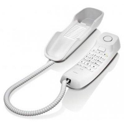 Проводной телефон Siemens Gigaset DA210 белый (S30054-S6527-S302) радиотелефон gigaset da310 white проводной s30054 s6528 s302