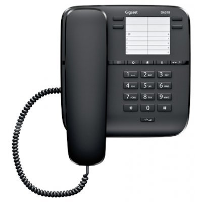 Проводной телефон Siemens Gigaset DA310 черный (S30054-S6528-S301)Проводные телефоны Siemens<br>Siemens Gigaset DA310 (черный)<br>