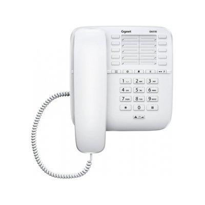 Проводной телефон Siemens Gigaset DA510 белый (S30054-S6530-S302) радиотелефон gigaset da310 white проводной s30054 s6528 s302