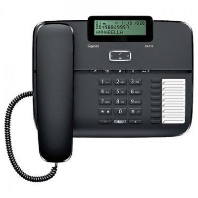 Проводной телефон Siemens Gigaset DA710 черный (S30350-S213-S301)