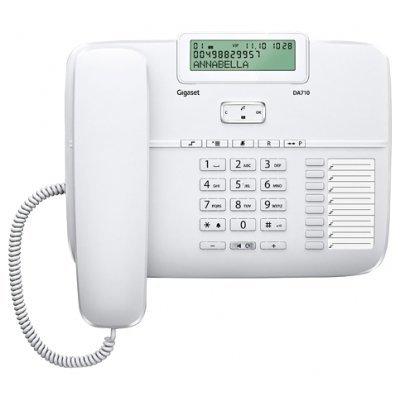 Проводной телефон Siemens Gigaset DA710 белый (S30350-S213-S302)