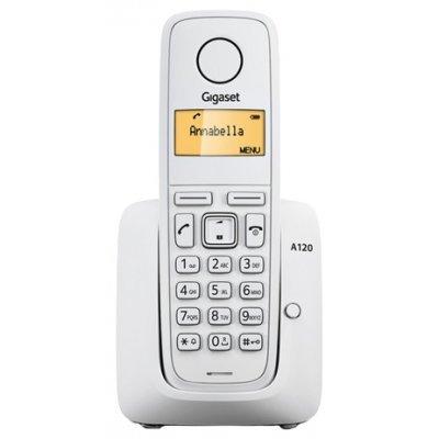 Радиотелефон Gigaset A120 белый (S30852-H2401-S302)Радиотелефоны Siemens<br>Р/телефон Siemens Gigaset A120 (белый)<br>