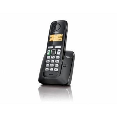 Радиотелефон Siemens Gigaset A220 HF AM черный (S30852-H2431-S301) дополнительная трубка gigaset a220h для a220