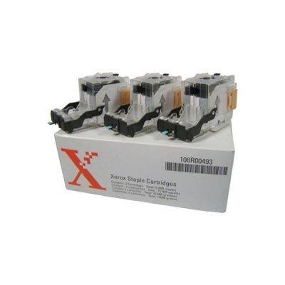 Комплект картриджей со скрепками для оф. финиш. и финиш-. с расш. функ-лом WC Pro 35/45/55/165/175/DC 535/45/55 (3х5000 скоб) (108R00493)Картриджи со скрепками Xerox<br>5000 в одном картридже, всего 15000 скрепок<br>