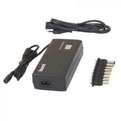 BURO Адаптер универсальный для ноутбуков/выход/12-24В/90Вт/8переходников (BUM-1245M90)