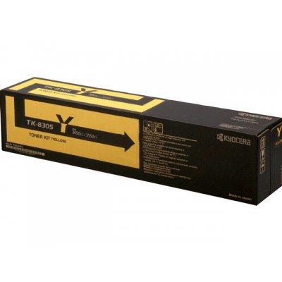 Тонер-картридж Kyocera TK-8305Y 15 000 стр. Yellow (1T02LKANL0)Тонер-картриджи для лазерных аппаратов Kyocera<br>Тонер-картридж TK-8305Y 15 000 стр. Yellow для TASKalfa 3050ci/3550ci<br>