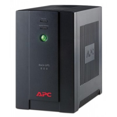 Источник бесперебойного питания APC Back-UPS 800VA with AVR, Schuko Outlets, 230V for Russia (BX800CI-RS)Источники бесперебойного питания APC<br>800VA/480W, 230V, AVR, 4xRussian outlets (4 batt.), Data/DSL protection, user repl. batt.<br>