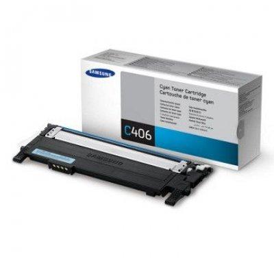 Тонер-Картридж голубой Samsung CLT-C406S/SEE для CLP-360/365/365W (CLT-C406S/SEE)Тонер-картриджи для лазерных аппаратов Samsung<br>(Описание)<br>