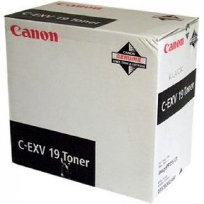 Тонер (0397B002) Canon C-EXV19 черный (0397B002)Тонеры для лазерных аппаратов Canon<br>CANON C-EXV 19 TONER BK EUR черный<br>