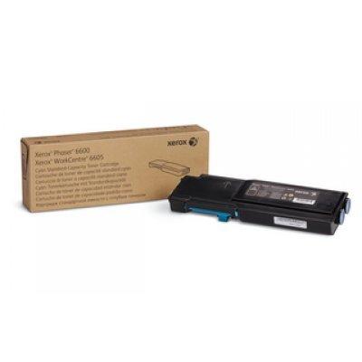тонер картридж xerox 106r02233 для phaser 6600 workcentre 6605 голубой 6000стр Тонер-картридж XEROX Phaser 6600/WC 6605 Голубой (6 000 стр.) (106R02233)