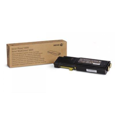 тонер картридж xerox 106r02233 для phaser 6600 workcentre 6605 голубой 6000стр Тонер-картридж XEROX Phaser 6600/WC 6605 Желтый (6 000 стр.) (106R02235)