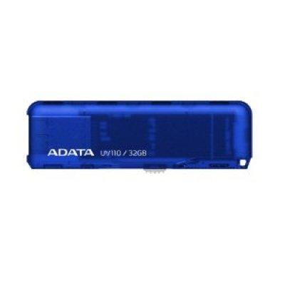 USB накопитель 32Gb ADATA AUV110 голубой (AUV110-32G-RBL)USB накопители A-Data<br>Флеш Диск A-Data 32Gb AUV110 голубой<br>