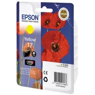 Картридж (C13T17044A10) Epson для XP33/203/303 желтый (C13T17044A10) принтер струйный epson l312