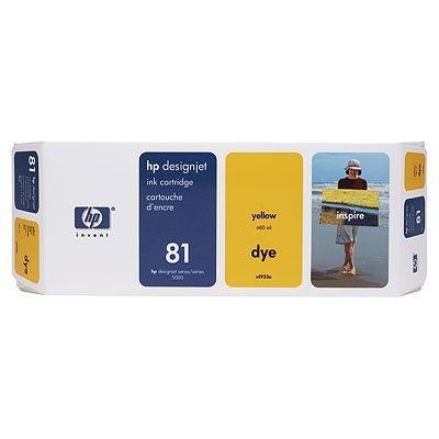 Картридж HP № 81 (C4933A) для DesignJet 5000/5000ps желтый (C4933A)Картриджи для струйных аппаратов HP<br><br>