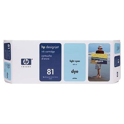 Картридж HP № 81 (C4934A) для DesignJet 5000/5000ps светло-голубой (C4934A)Картриджи для струйных аппаратов HP<br><br>