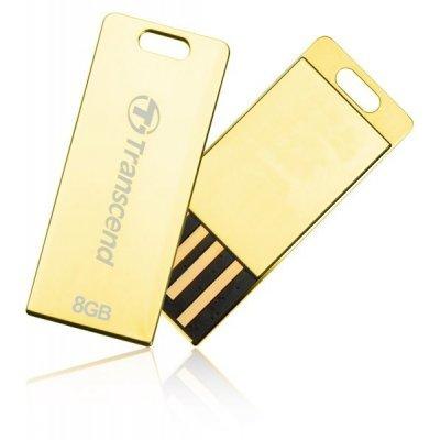 USB накопитель 8Gb Transcend JetFlash T3G золотистый (TS8GJFT3G)USB накопители Transcend<br>Флеш Диск Transcend 8Gb T3G золотистый TS8GJFT3G<br>