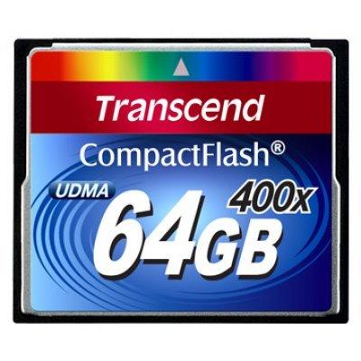 Карта памяти 64Gb Transcend TS64GCF400 (TS64GCF400) карта памяти compact flash 16gb transcend 400x ts16gcf400