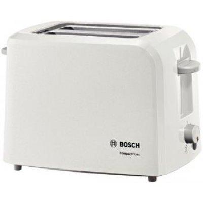 Тостер Bosch TAT3A011 (TAT3A011)Тостеры Bosch<br>на 2 тоста, мощность 980 Вт, механическое управление, ненагревающийся корпус<br>