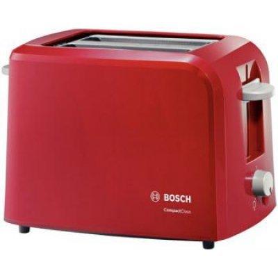 Тостер Bosch TAT3A014 (TAT3A014)Тостеры Bosch<br>на 2 тоста, мощность 900 Вт, механическое управление, ненагревающийся корпус<br>