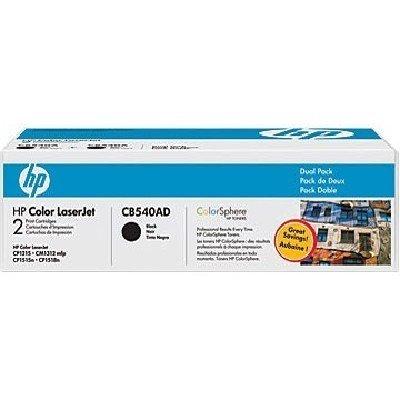 Двойная упаковка картриджа HP (CB540AD) для LJ CP1215/1515 черный (CB540AD)Тонер-картриджи для лазерных аппаратов HP<br>Картридж HP двойной для CLJ CP1215/1515, Black<br>