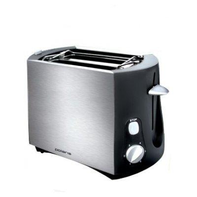 Тостер Polaris PET0804A (PET0804A)Тостеры Polaris<br>на 2 тоста, мощность 800 Вт, механическое управление, функция размораживания, ненагревающийся корпус, решетка для булочек, металлический прочный корпус<br>