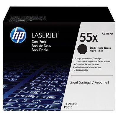 Двойная упаковка картриджа HP (CE255X) для LJ P3015 (CE255XD)Тонер-картриджи для лазерных аппаратов HP<br>HP картридж двойной CE255X к LaserJet P3015<br>