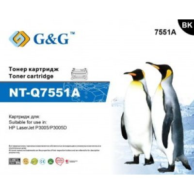 Тонер-картридж NT-Q7551A G&G для HP LaserJet P3005/P3005D (A0GG1HCNTQ7551A) картридж gg nt c4092a ep 22
